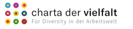Logo Charta der Vielfalt. Für Diversity in der Arbeitswelt. Link zu Arbeiten im Jobcenter Köln