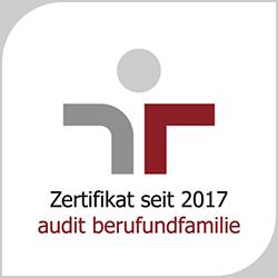 Logo Audit Beruf und Familie. Link zur Seite Arbeiten im Jobcenter Köln